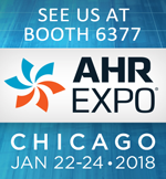 Visit us at AHR EXPO 2018 Chicago